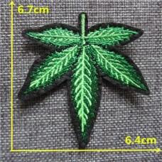 Термонаклейка конопляный лист