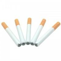 Металлическая курительная трубка в форме сигареты
