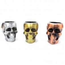 Трубка для курения металлическая череп